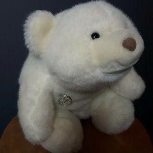 Gund White Bear Vintage 1980 stuffed plush